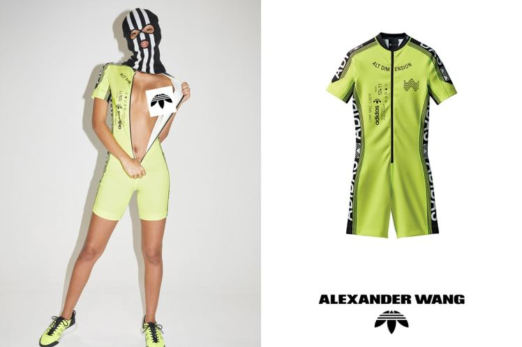 Alexander Wang and Adidas cycling sportswear