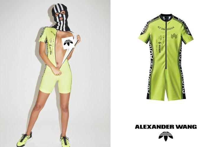 Alexander Wang and Adidas cycling sportswear