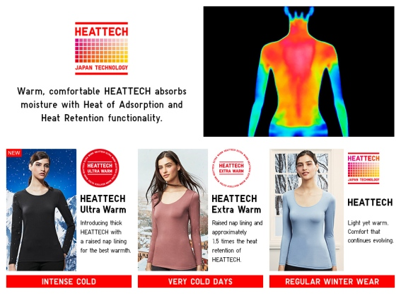 Uniqlo Fashion retail Heatech technology