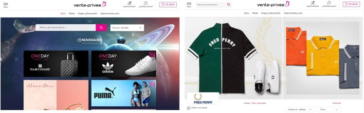 Vente Privee Site - Campaign - Fashion retail