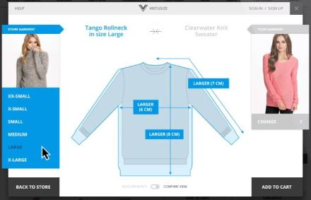 Virtusize fashion online sizing fitting