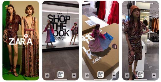 Zara augmented reality app omnichannel fashion retail