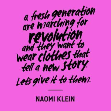 Fashion Revolution by Naomi Klein - The Fashion Retailer