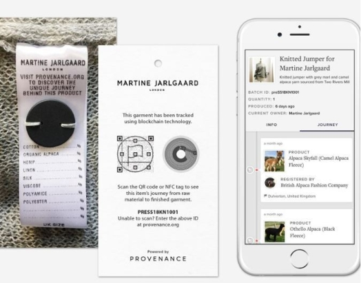 Martine Jarlgaard and Provenance transparency in fashion using blockhacin - The Fashion Retailer