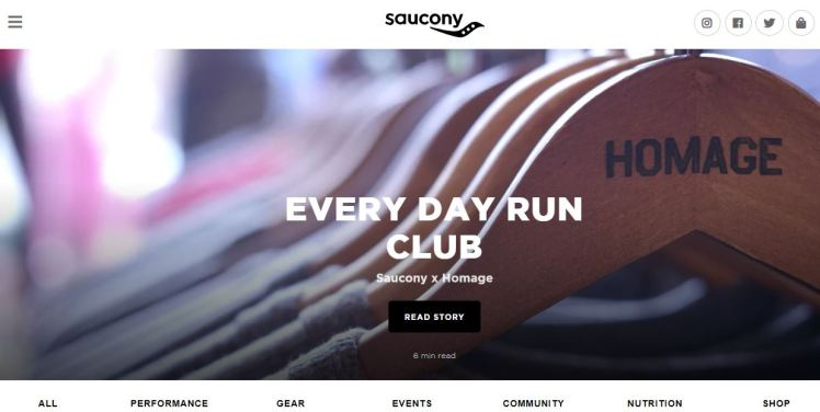 Saucony club community running brand experience