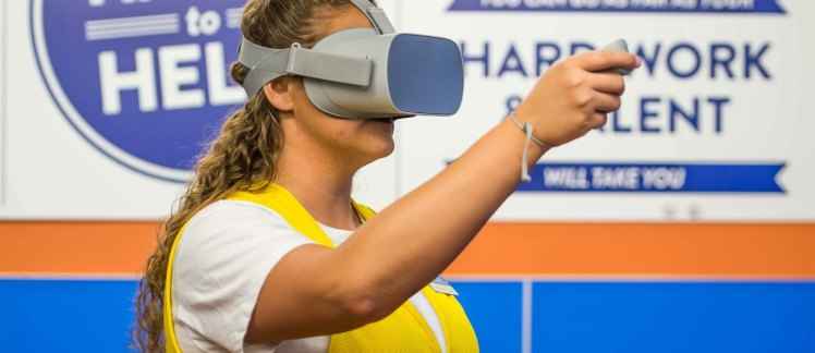 Walmart Virtual Reality workforce training digitalization retail omnichannel skilled associates