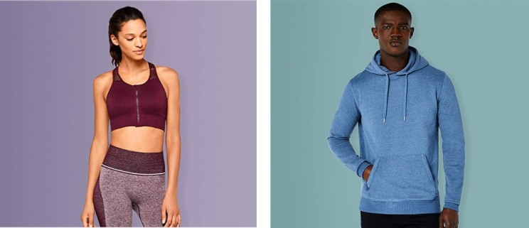 Amazon Fahion workout assortment pop-up store London