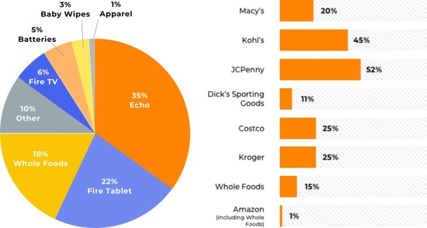 Amazon Private Label Sales by department Retail Players comparison