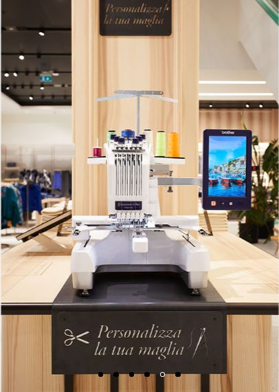 Embroiderer United Color of Benetton new concept store fashtech in Padua fashion retail