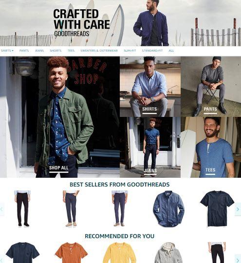 Goodthreads Amazon fashion private label brands special site menswear