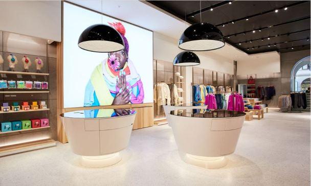 New store Benetton fashion technology concept showroom Padua