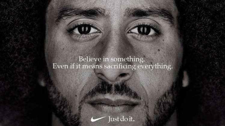 Nike activism fashion retail politics Colin Kaepernick against racism