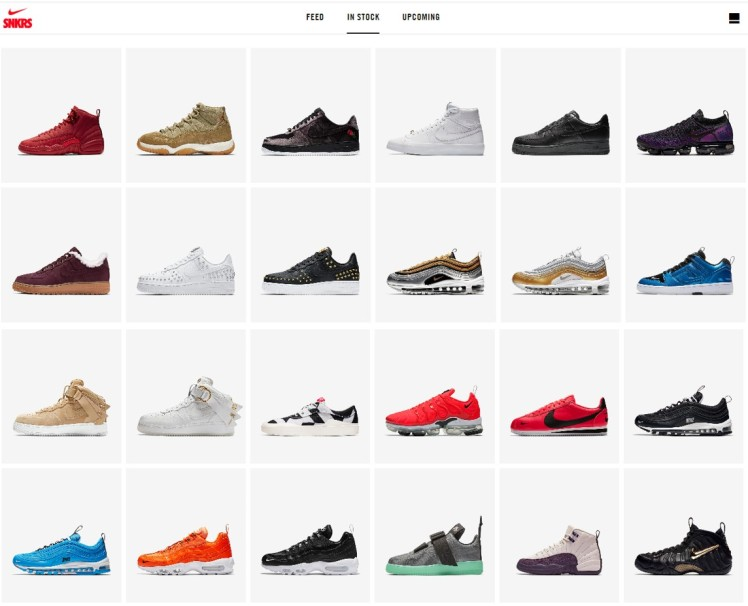 Nike SNKRS Calendar Stock shoes make to order