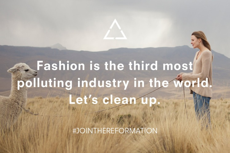 reformation sustainable brand fashion apparel
