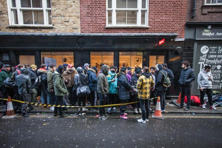 supreme queue line streetwear customer need limited edition luxury fashion