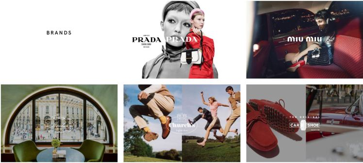Prada Group Brands