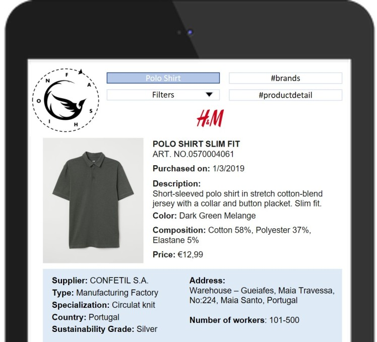 Sustainability app efficient closet supplier information fashion retail