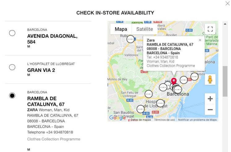 Check in availablity of fashion items thru RFID visibility retail Zara