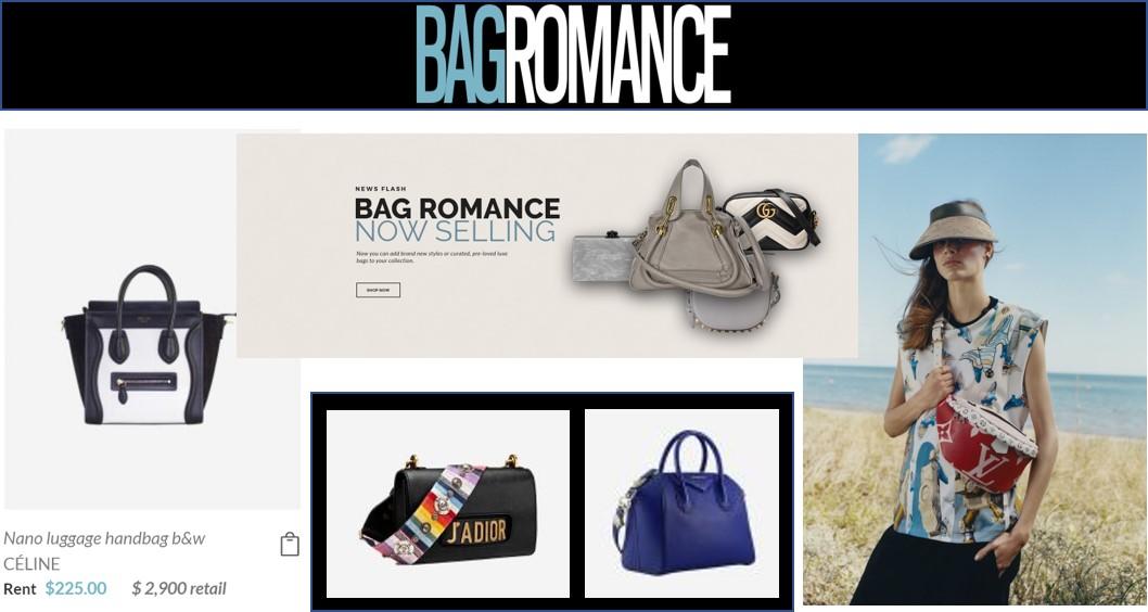 Bag Romance Rental clothing sharing economy fashion business model