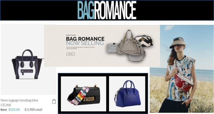 Bag Romance Rental clothing sharing economy fashion business model