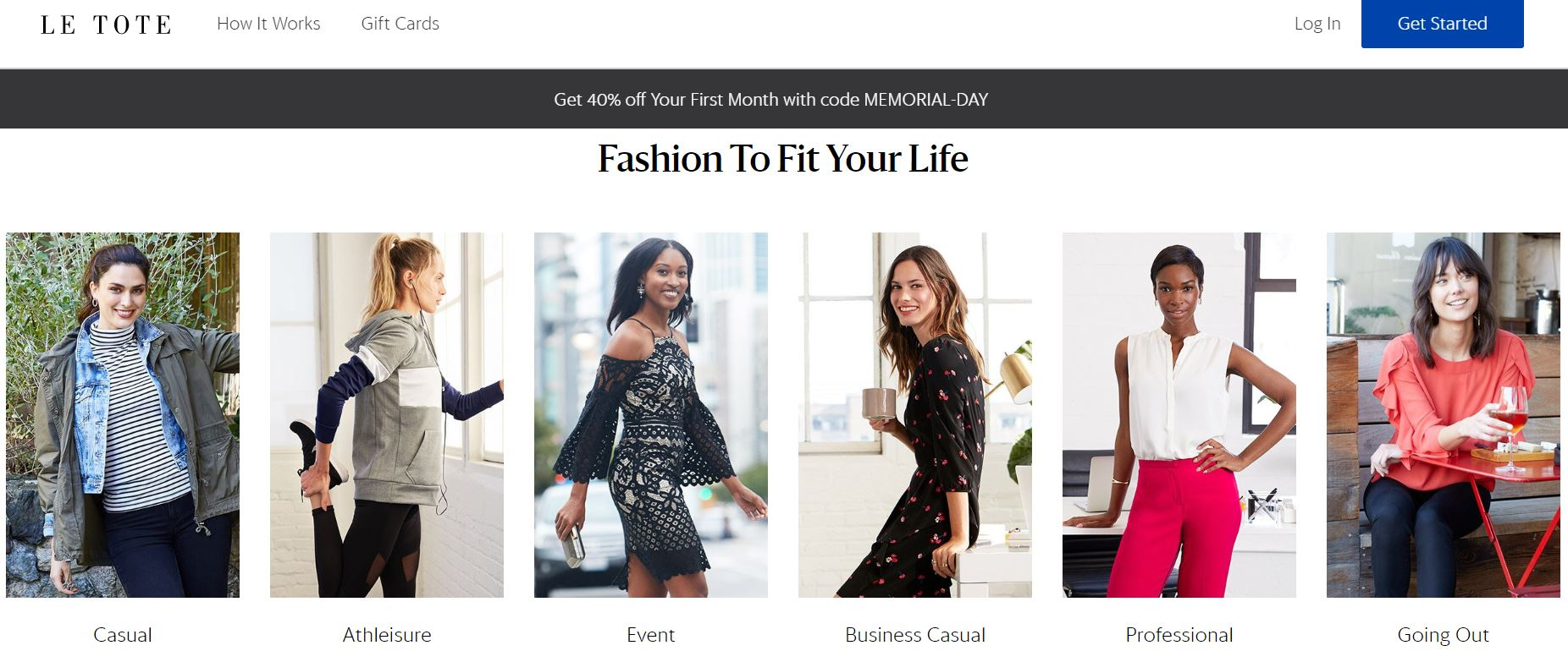 Le Tote subscription rental clothing model