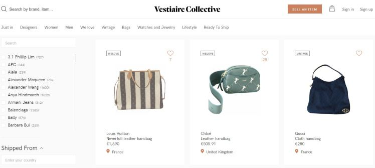 Resale Fashion as a Service FaaS Vestiaire Collective