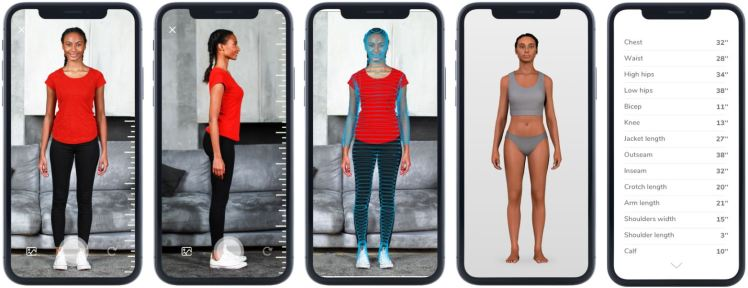 3DLOOK sizing fitting technology for fashion with machine learning