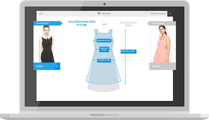Virtusize fashion technology augmented reality sizing